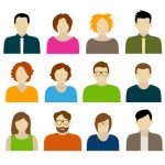 Collection of characters - avatars. Can be used for social networking.